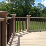 Two color railing