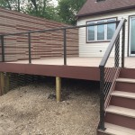 Cable railing and custom privacy wall