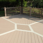 Brownstone deck with white accents