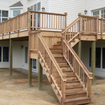 Cedar and Ipe combination stairs