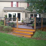 Ipe and cedar deck stained in Pewaukee